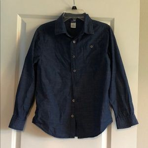 Gymboree size 10/12 blue dress shirt